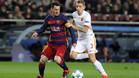 Messi marcó dos goles a la Roma