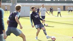 Messi ha participado en el entrenamiento