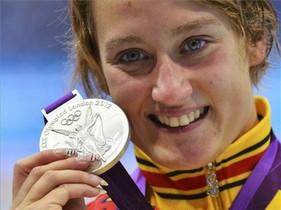 Mireia Belmonte, plata en 800 metros
