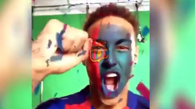 Neymar experimentó con el filtro blaugrana