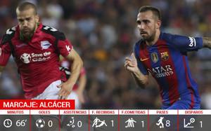 Paco Alcácer no tuvo un debut afortunado como futbolista del FC Barcelona
