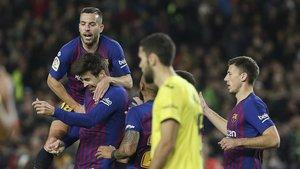 Piqué y Aleñá marcaron en la última victoria del Barça