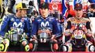 Rossi y Viñales, pilotos oficiales de Yamaha, junto a Pedrosa