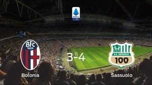 El Sassuolo se lleva tres puntos a casa tras ganar 3-4 al Bolonia