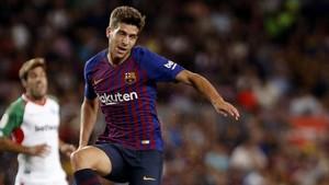 Sergi Roberto empezó de centrocampista y acabó de lateral