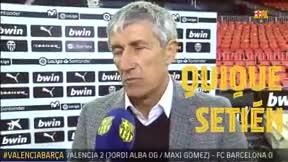 Setién analizó el partido tras la derrota en Mestalla