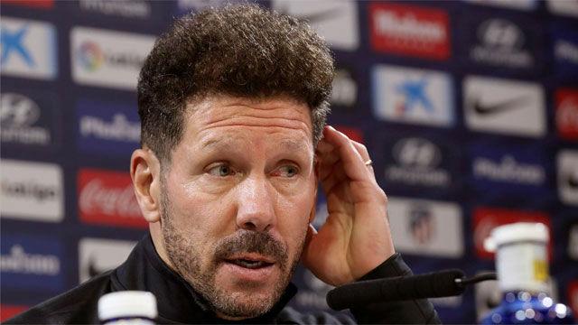 Simeone: Es complicado, porque hay tres jugadores importantes fuera