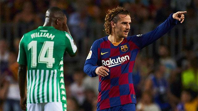 Tremendo doblete de Griezmann en su estreno liguero en el Camp Nou