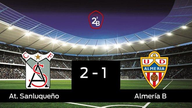 Tres puntos para el equipo local: At. Sanluqueño 2-1 Almería B