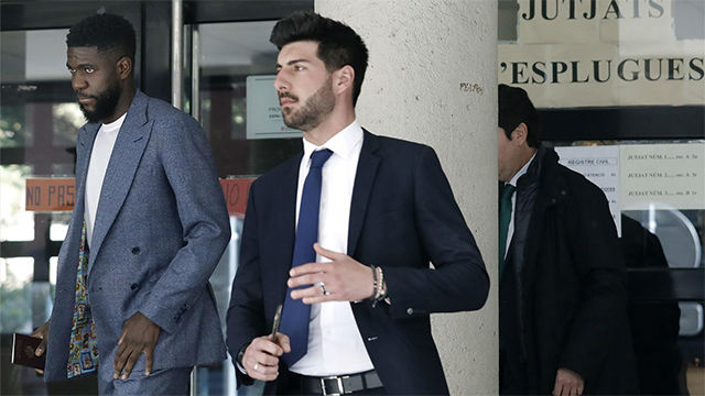 Umtiti declara ante juez acusado de destrozar una casa alquilada en Esplugues de Llobregat
