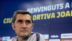 Valverde, en la rueda de prensa previa al partido ante el Rayo