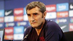 Valverde en la rueda de prensa previa al Villarreal