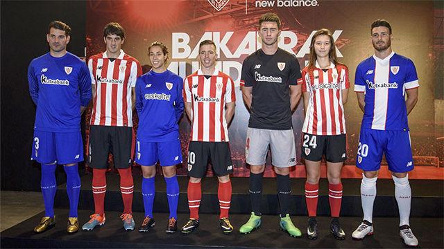 El Athletic presenta sus nuevas equipaciones f7426f958fa05