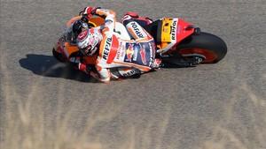 Márquez fue el más rápido de la tarde en Motorland