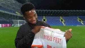 Ansu Fati habló tras su debut con la selección