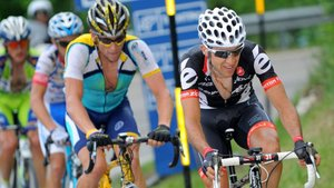 Armstrong y Sastre, en una etapa del Tour