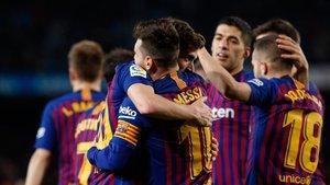 El Barça celebró una nueva clasificación para semifinales de la Copa