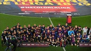 El Barcelona celebró su 26º título de Liga