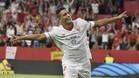 Ben Yedder celebra el 2-1 que acabó siendo decisivo para el Sevilla