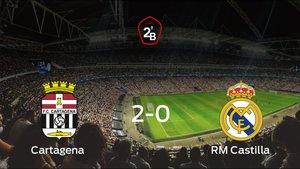 El RM Castilla se queda fuera de los playoff tras perder 2-0 ante el Cartagena
