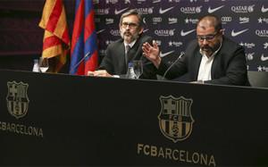 Cristóbal Martell y Román Gómez Ponti en su comparecencia sobre el caso Neymar