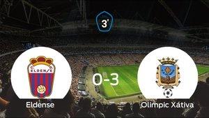 El Eldense sufre una goleada ante el Olimpic Xátiva (0-3)