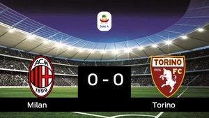 Empate, 0-0, entre el Milan y el Torino