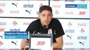 Federico Valverde disfruta de su estadía con la selección uruguaya