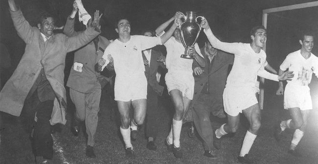 Final Champions Real Madrid - Stade Reims (4-3). 1955 - 1956