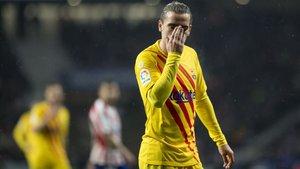 Griezmann, en el Atlético-Barça del pasado 1 de diciembre
