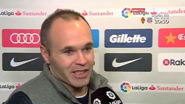 Iniesta restó importancia al pinchazo del Barça ante el Getafe