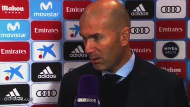 Toque de Zidane a su equipo pese a la victoria