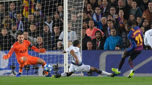 Las notas de los jugadores del Barça ante el Tottenham al descanso
