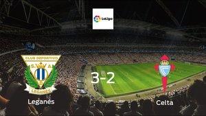 Leganés earned hard-fought win over Celta 3-2 at Estadio Municipal de Butarque