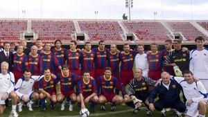 Los exjugadores del FC Barcelona se despiden este sábado del Mini ante los veteranos del Girona FC
