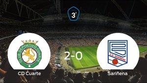 Los tres puntos se quedan en casa: CD Cuarte 2-0 Sariñena