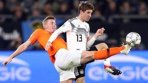 Matthijs de Ligt se mostró ilusionado tras la clasificación de Holanda para la Final Four