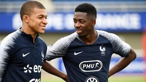 Mbappé y Dembélé comparten vestuario en la selección francesa