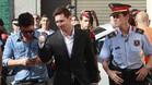 Messi, acudiendo a declarar en los juzgados