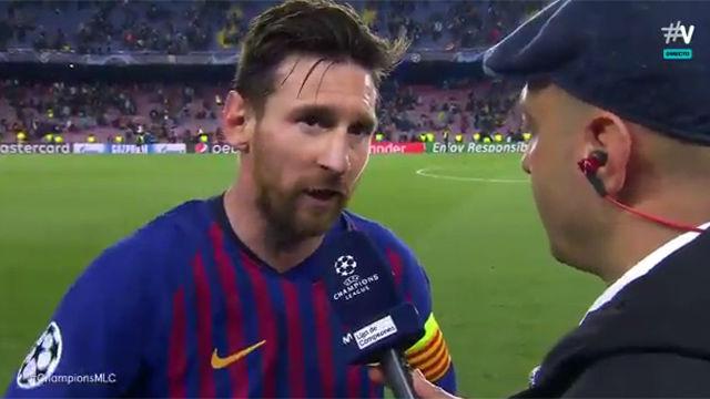 Messi habló tras su actuación estelar ante el Manchester United