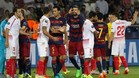 Un momento de la final de la Supercopa de Europa entre el FC Barcelona y el Sevilla CF 2015-16 disputada en Tibilisi