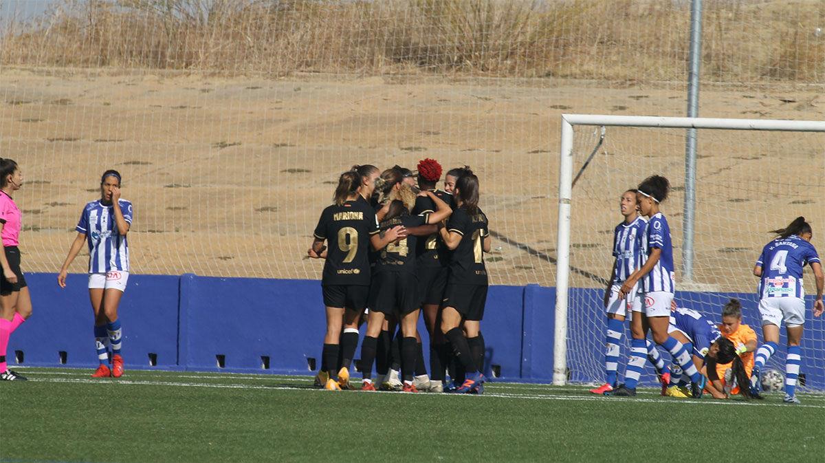 ¡Obra maestra! Vaselina y gol de Alexia ante el Huelva