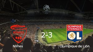 El Olympique Lyonnais gana 2-3 en casa del Nîmes