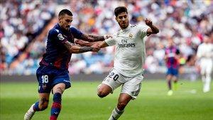 El partido ante el Levante fue el último en que Marco Asensio jugó de titular