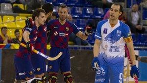 Partido entre Barça y Lleida