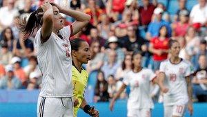 Patri Guijarro fue de las mejores de España ante China