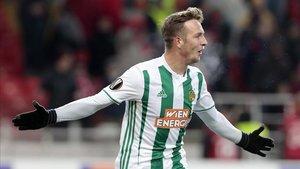 Philipp Schobesberger celebra un gol