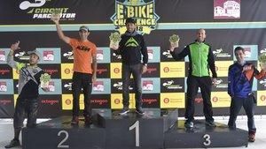 El podio de la E-Bike Challenge