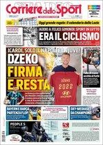 Portada del Corriere dello Sport, del sábado, 17 de agosto de 2019