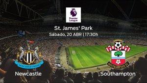 Previa del encuentro: enfrentamiento en el St. James Park: Newcastle - Southampton